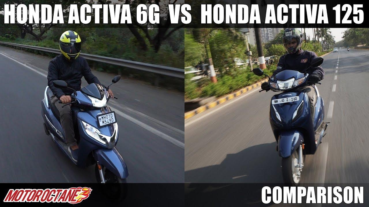 Motoroctane Youtube Video - Honda Activa 6G vs Honda Activa 125 BS6 Comparison | Hindi | MotorOctane