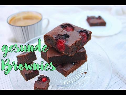 GESUNDE BROWNIES BACKEN | glutenfreie Rezepte [ohne Zucker & ohne Mehl] | gesunde Süßigkeiten