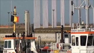 preview picture of video '11 MAR 2011 BELGIAN COAST NIEUWPOORT VISKAAI HAVENGEUL WESTERSTAKETSEL JACHTHAVEN'