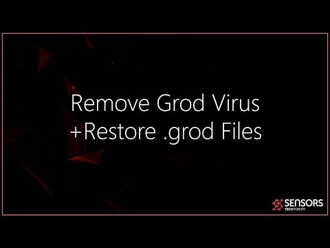 Grod Virus File (.grod) - Remove + Files Recovery