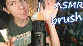 АСМР🎧 Кисточки по Микрофону✨ Blue Yeti/ ASMR Brushing the Microphone Blue Yeti