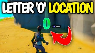 Search hidden O found in the Open Water Loading Screen Fortnite - Fortnite O Letter Location
