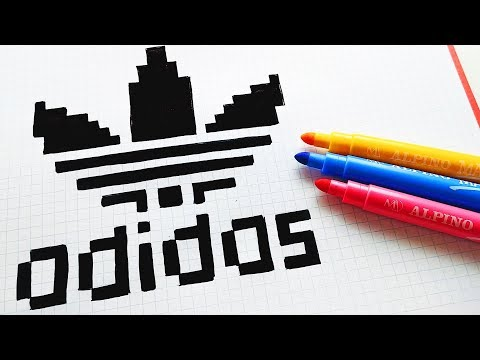 Handmade Pixel Art - How To Draw Adidas Logo #pixelart
