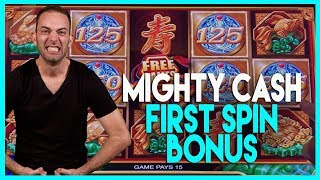🎰BONUS First Spin @ Mighty CASH (w/ Brian's Beautiful Song!)🎶HIGH LIMIT Dancing Drums ✦ BCSlots