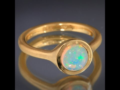 Bezeled Welo Opal Ring by Christopher Michael