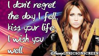 Miley Cyrus - See You In Another Life (Lyrics Video) HD