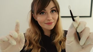 [ASMR] Dermatologist Skin Care Consultation & Extraction - Personal Attention Face Touching