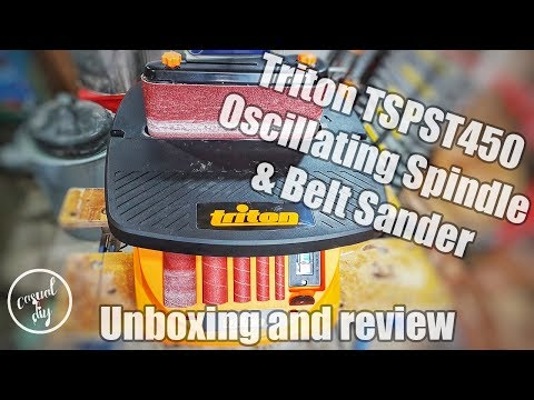 Triton TSPST450 450W Oscillating Spindle & Belt Sander – unboxing and review
