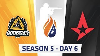 ECS Season 5  Day 6 - Astralis vs Godsent, EnVyUs vs Godsent // eUnited vs Luminosity