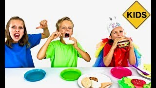 Pretend Play Food! Felt Sandwiches With Sign Post Kids!