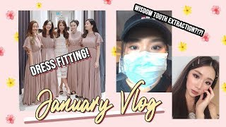 JAN VLOG 2019 WISDOM TOOTH SURGERY, BRIDESMAID FITTING, WEDDING FOOD TASTING | MONGABONG