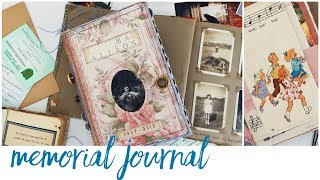 Memorial Journal | Handmade Funeral Guestbook | Tribute