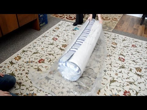 Unboxing and review of the Safavieh Tranquility Spring Mattress White/Navy