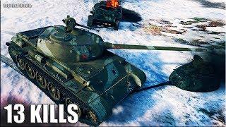 Т-44 БЫКУЕТ В ТОПЕ 🌟 13 фрагов 🌟 World of Tanks лучший бой на СТ 8 уровня Т-44