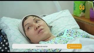 В Актобе остановочный павильон обрушился на женщину