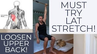 How to Stretch Your Lats (Very Easy and Comfortably!) Using a Low Pullup Bar with Antranik