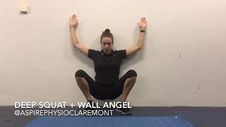 deep squat mobility + wall angel