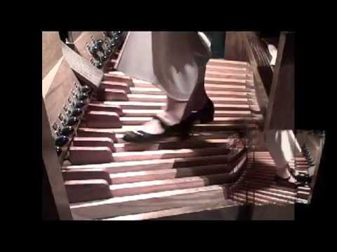Dr. Jeannine Jordan, concert organist, plays JS Bach's Pedal Exercitium