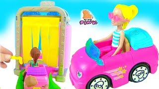 #BARBIE CAR WASH АВТОМОЙКА! Мультик про Машинки - Барби Мультик с Май Тойс Пинк  for kids