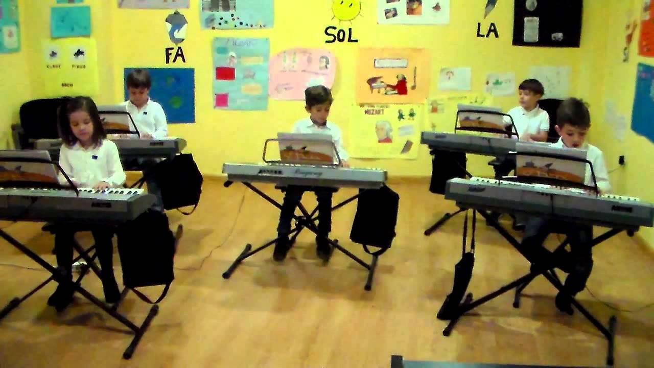 1,2,3 pasos - Grupo de alumnos de Mi Teclado 1 - Sinfonía Musical