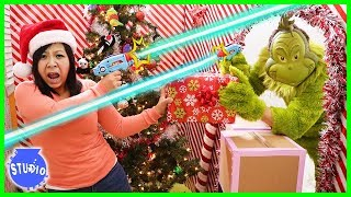 The Grinch stole our Christmas Presents into the giant box fort maze!!!!