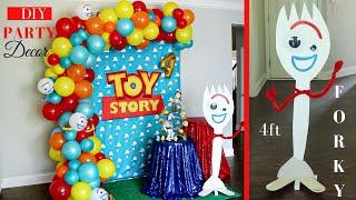 Toy Story 4 Party Decor Ideas | Forky DIY | Watch Me Setup!