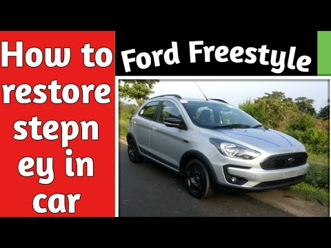 #Fordfreestyletrend#2019 How to restore stepney in ford freestyle