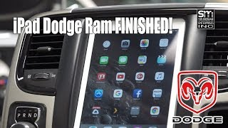 The finished Dodge iPad panel!