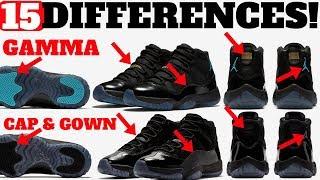 15 DIFFERENCES! AIR JORDAN 11 GAMMA vs CAP AND GOWN! | Kholo.pk