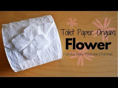 How to make Toilet Paper Origami Flower