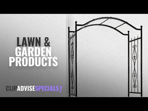 10 Best Selling Gardman Lawn & Garden Products [2018 ]: Gardman R355 Charleston Arch, Black, 3' 7""
