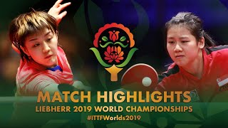Chen Meng vs Wong Xin Ru   2019 World Championships Highlights (R128)
