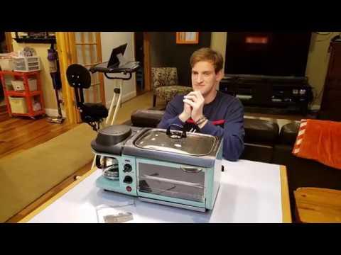 Retro Nostalgia Electrics Retro Series 3 In 1 Breakfast Station Coffee Toast Grill