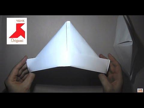 Как сделать простую шапку из 2-х листков бумаги формата А4?