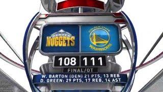 Denver Nuggets vs Golden State Warriors - January 2, 2016