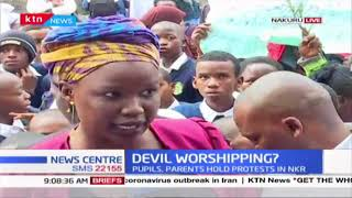 DEVIL WORSHIPPING? Pupils from Jamhuri Primary School and Parents hold protests in Nakuru County