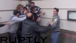 Turks Vs Kurds In Brutal Frankfurt Street-fight: Knives & Bottles Brandished