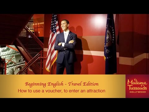 Beginning English Travel Edition: How to use a voucher to enter an attraction.