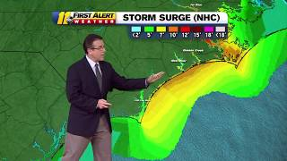 Meteorologist Steve Stewart gives the latest update on Hurricane Florence