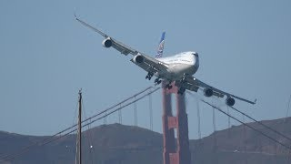 Boeing 747 Flybys .. San Francisco Fleet Week 2017 (4K) | Kholo.pk
