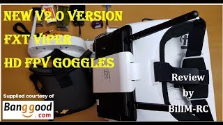 New V2.0 Version FXT VIPER 5.8GHz Diversity HD FPV Goggles review