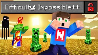 IMPOSSIBLE DIFFICULTY Added to MINECRAFT! (Survive)