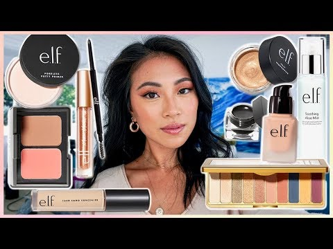 FULL FACE USING ONLY E.L.F MAKEUP TUTORIAL | GO OFF THEN ELF!