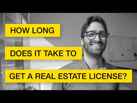 How Long Does It Take to Get a Real Estate License? - YouTube