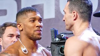 ANTHONY JOSHUA vs WLADIMIR KLITSCHKO FACE OFF & WEIGH IN