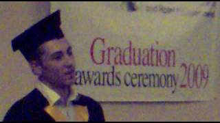 Petar Zagorov-Graduation speech upon being awarded best student