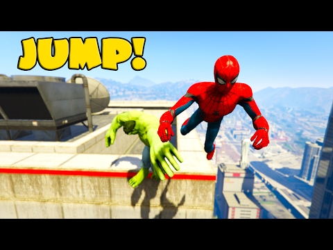 extreme jumper hulk and spiderman from hightower funny video