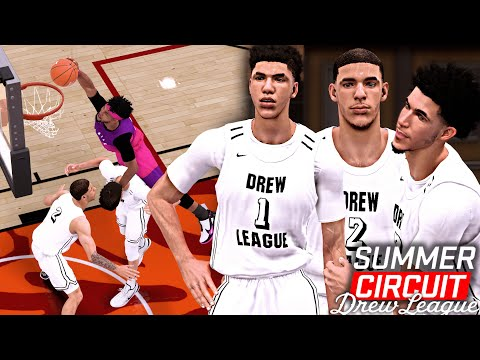 NBA 2K19 Summer Circuit #5 - LaMelo Ball ON FIRE At The Drew League! LaMelo Makes 10 THREES!
