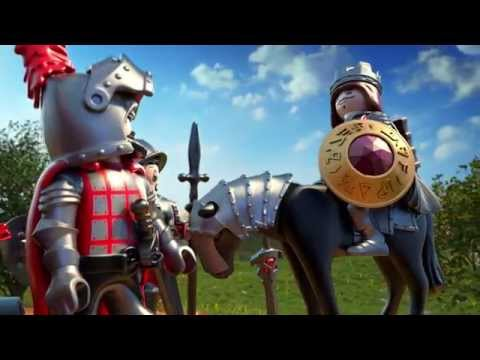 PLAYMOBIL MOYEN AGE - couple medieval - 3292 - vintage - cape chevalier