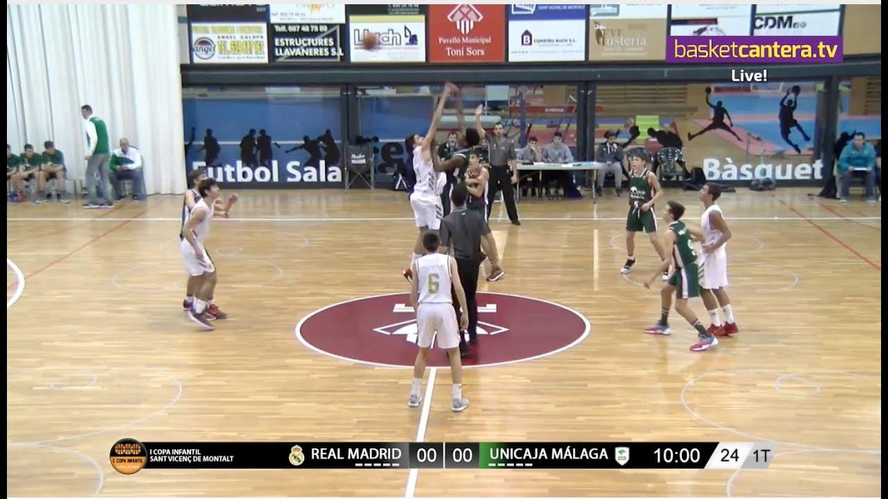 U14M - REAL MADRID vs UNICAJA MÁLAGA. I Copa Infantil Sant Vicenç de Montalt (BasketCantera.TV)